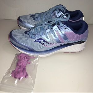 Saucony Ride Iso Blue Navy Purple Running Shoe